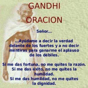 Oración Gandhi