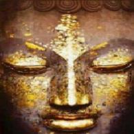 Buda con ojos cerrados