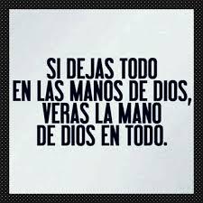 Deja en manos de Dios