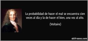 Voltaire probabilidad